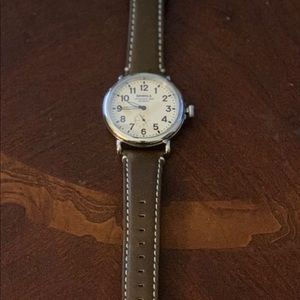 Shinola Stainless Steel, Brown Leather Watch